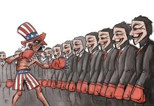 Uncle Sam vs. Anonymous