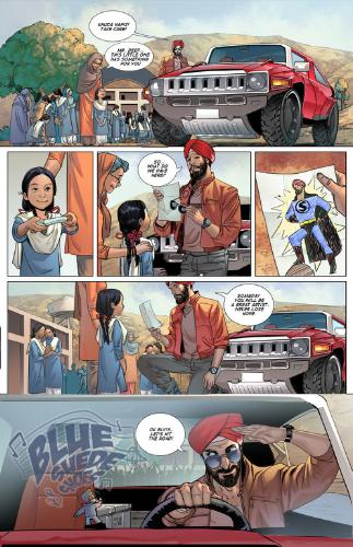 Super Sikh Comic Sample Page