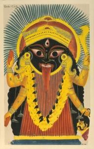 Goddess Kali - Kalighat Painting 1850s