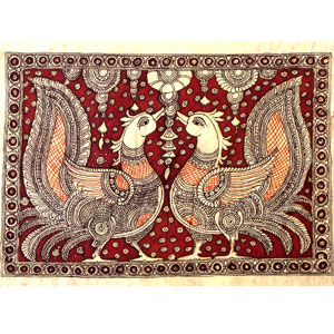 kalamkari-painting-twin-birds-02