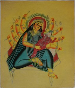 Kalighat_Ganesha_in_the_lap_of_Parvati