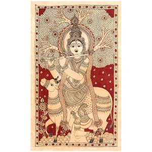 krishna-as-gau-gopala---cotton-kalamkari-painting