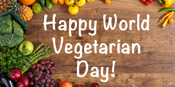 World Vegetarian Day - October  01  IMAGES, GIF, ANIMATED GIF, WALLPAPER, STICKER FOR WHATSAPP & FACEBOOK